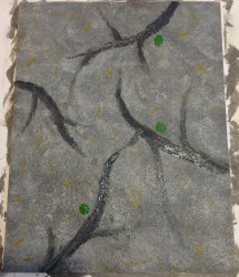 My little abstract painting inspired by the picture of the ground