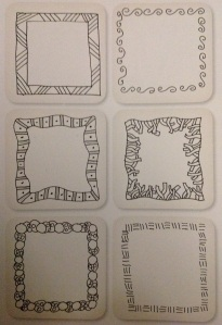 Zentangle borders I drew from the Zentangle Untangled Workbook