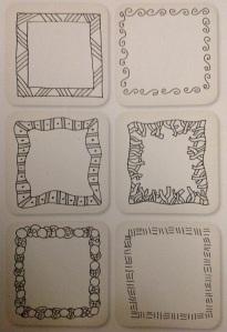 Zentangle borders I drew from the Zentangle Untangled Workbook