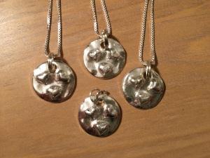 Silver Sister Pendants