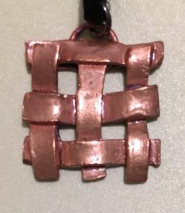 Copper Weave Pendant