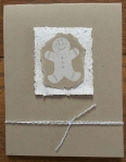 Christmas card using handmade paper