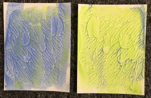 Collage art - basic gesso backgrounds
